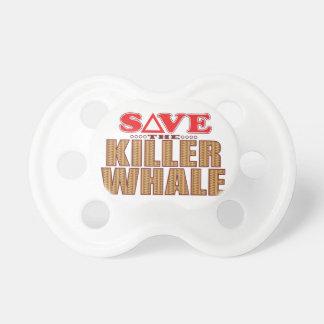 Reserva de la orca chupetes para bebes