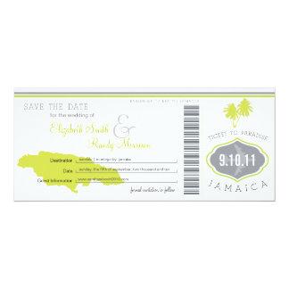Reserva de la palmera el documento de embarque de invitación 10,1 x 23,5 cm