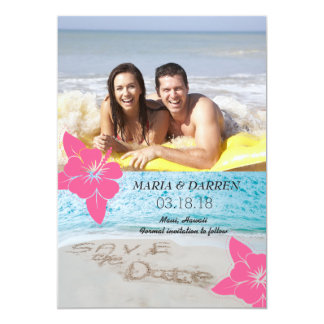 Reserva de la playa de Hawaii la fecha Invitación 12,7 X 17,8 Cm
