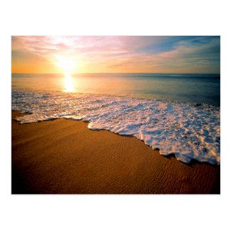 Reserva de la playa de la puesta del sol la postal