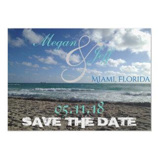 Reserva de la playa la fecha invitación 12,7 x 17,8 cm