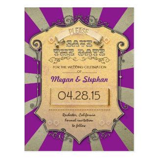 Reserva de la púrpura del carnaval la fecha postal