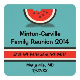 Reserva de la reunión de familia de la sandía la invitación 13,3 cm x 13,3cm