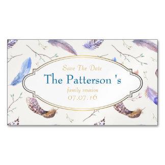 Reserva de la reunión de familia de las plumas de tarjeta de visita magnética