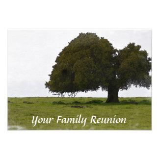 Reserva de la reunión de familia el roble de la fe invitación