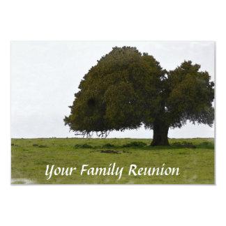 Reserva de la reunión de familia el roble de la invitación