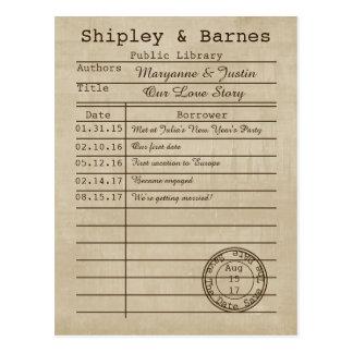 Reserva de la tarjeta de biblioteca del vintage la