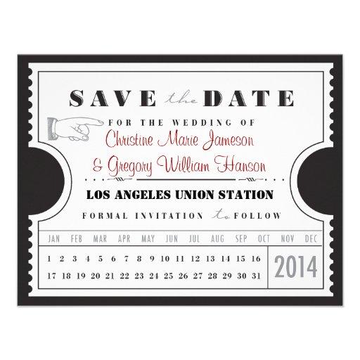 Reserva de la tarjeta de sacador del boleto la fec invitaciones personalizada