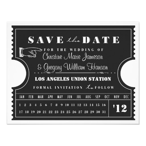 Reserva de la tarjeta de sacador del boleto la fec invitacion personalizada