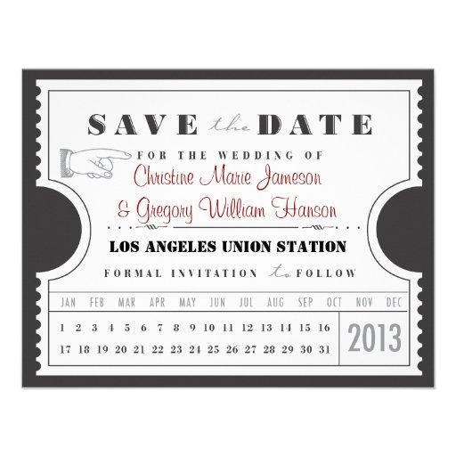 Reserva de la tarjeta de sacador del boleto la fec invitaciones personales