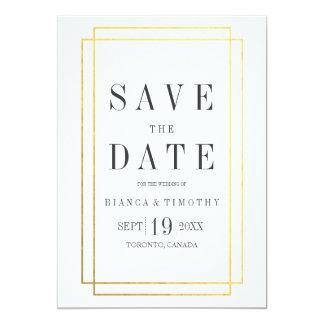 Reserva de la tipografía de ayuntamiento la fecha invitación 12,7 x 17,8 cm