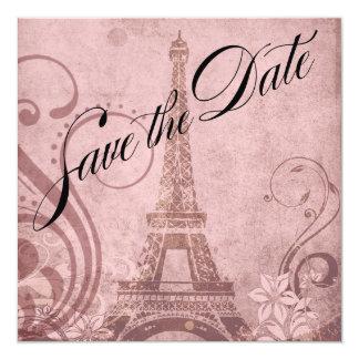 Reserva de la torre Eiffel de Fleur de París el Invitación 13,3 Cm X 13,3cm