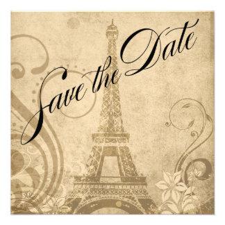 Reserva de la torre Eiffel de Fleur de París la ar Invitación Personalizada