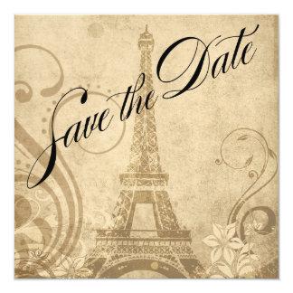 Reserva de la torre Eiffel de Fleur de París la Invitación 13,3 Cm X 13,3cm
