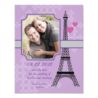 Reserva de la torre Eiffel la invitación de la Invitación 10,8 X 13,9 Cm