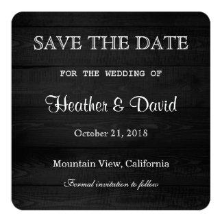 Reserva de madera gris del diseño el boda de la invitación 13,3 cm x 13,3cm