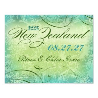Reserva de NUEVA ZELANDA la fecha Invitación 10,8 X 13,9 Cm