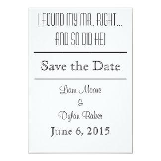 """Reserva de """"Sr. la Right"""" las fechas Invitación 12,7 X 17,8 Cm"""