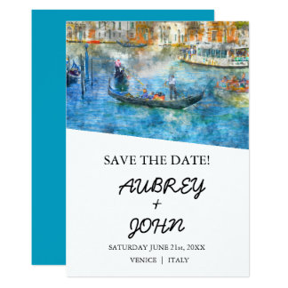 Reserva de Venecia Italia la invitación del boda