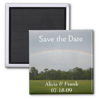 reserva del arco iris la fecha imán cuadrado