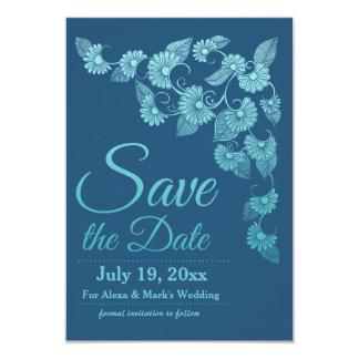 Reserva del azul la invitación de la fecha