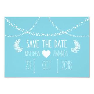 Reserva del azul las fechas invitación 12,7 x 17,8 cm
