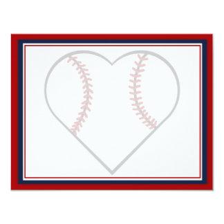 Reserva del béisbol las tarjetas de fecha invitación 10,8 x 13,9 cm