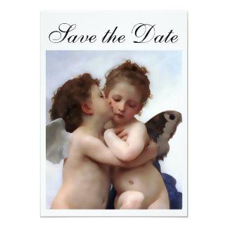 Reserva del beso del ángel la tarjeta de la invitación 12,7 x 17,8 cm