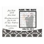 Reserva del boda de la elegancia del damasco la po tarjeta postal