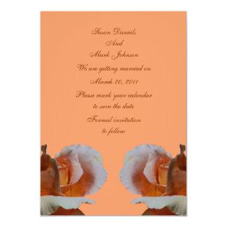 Reserva del boda de la flor del capullo de rosa invitación 12,7 x 17,8 cm
