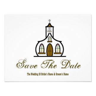 Reserva del boda de la iglesia la fecha comunicado personal