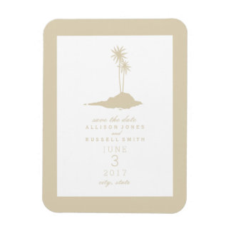 Reserva del boda de la isla de la playa la fecha - imán flexible