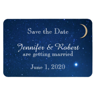 Reserva del boda de la noche estrellada la fecha iman