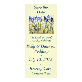 Reserva del boda de la primavera la fecha invitación 10,1 x 23,5 cm