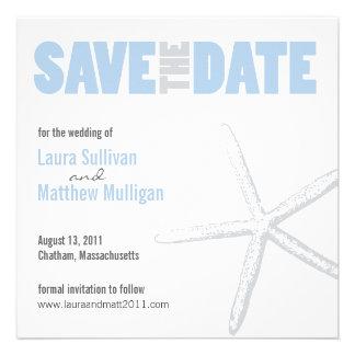 Reserva del boda de las estrellas de mar la fecha anuncio personalizado