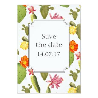 Reserva del boda del cactus la tarjeta del día invitación 12,7 x 17,8 cm