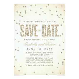 Reserva del boda del confeti de la mirada del invitación