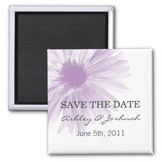 Reserva del boda del diseño floral de Lavend los Imán Cuadrado