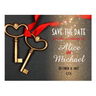 Reserva del boda del estilo elegante la fecha postal