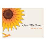Reserva del boda del girasol la fecha MiniCard 2 Plantillas De Tarjetas De Visita