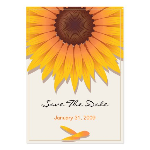 Reserva del boda del girasol la fecha MiniCard Tarjetas De Visita Grandes