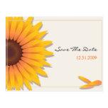 Reserva del boda del girasol la invitación Card2 Postal