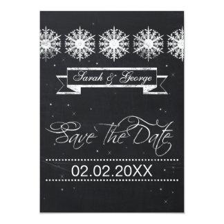 reserva del boda del invierno de la pizarra de los invitación 12,7 x 17,8 cm