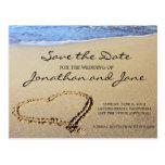 Reserva del boda del océano de la playa la fecha tarjetas postales