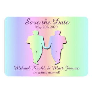Reserva del boda del orgullo gay la tarjeta de invitación 11,4 x 15,8 cm