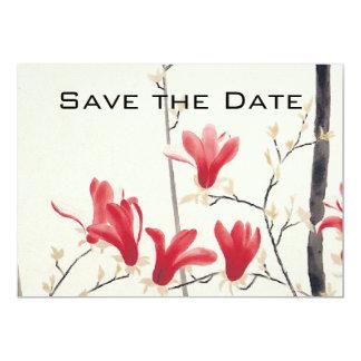 Reserva del boda del vintage la fecha, árbol de la invitación 12,7 x 17,8 cm