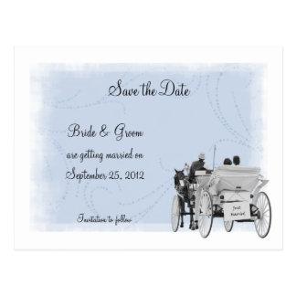 Reserva del carro la postal de la fecha