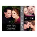 Reserva del collage del compromiso la invitación d postales