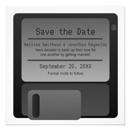 Reserva del disco blando la invitación de la fecha