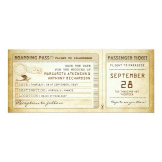 reserva del documento de embarque que la fecha invitación 10,1 x 23,5 cm